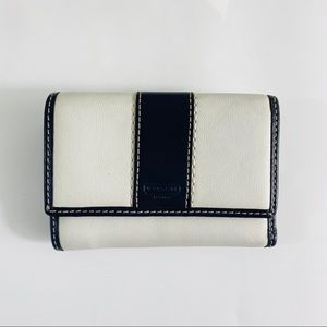 Coach Black/White Small Leather Wallet